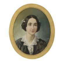 CASANOVA, Retrato, Pastel sobre papel, 54 x 43 cm.