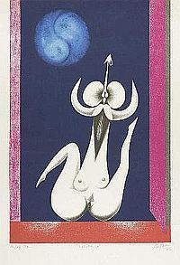 Vespeira, 'Luzúbrica', serigrafia, 68,5 x 45 cm.