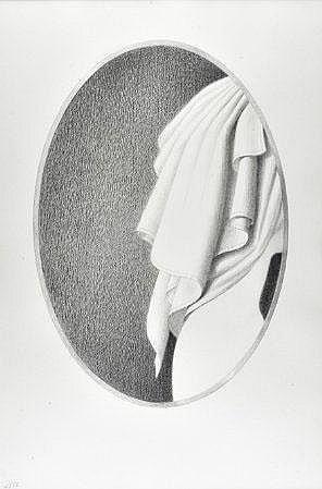 Eduardo Luís,Tinta grafítica s/papel, 66 x 43 cm.