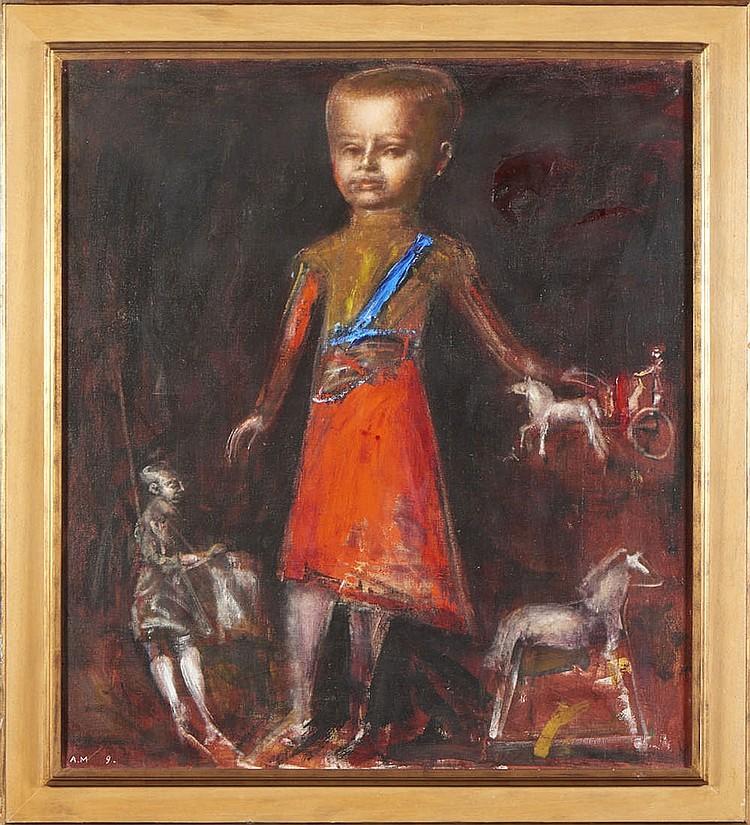"""A. Medvedev, """"Puppets"""", óleo s/tela, 99 x 88 cm."""