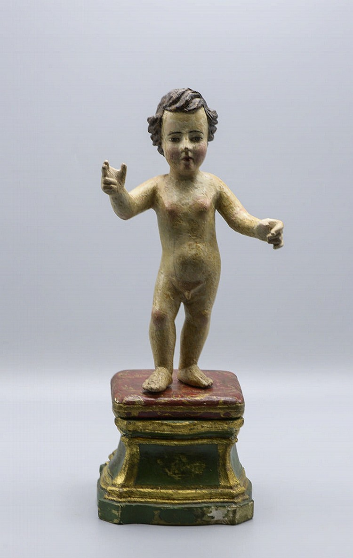 Menino Jesus, escultura do séc. XVIII em madeira