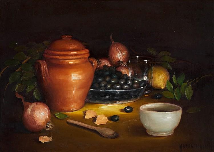 MARGARIDA VIGOSO, Óleo sobre tela, 39 x 55 cm.