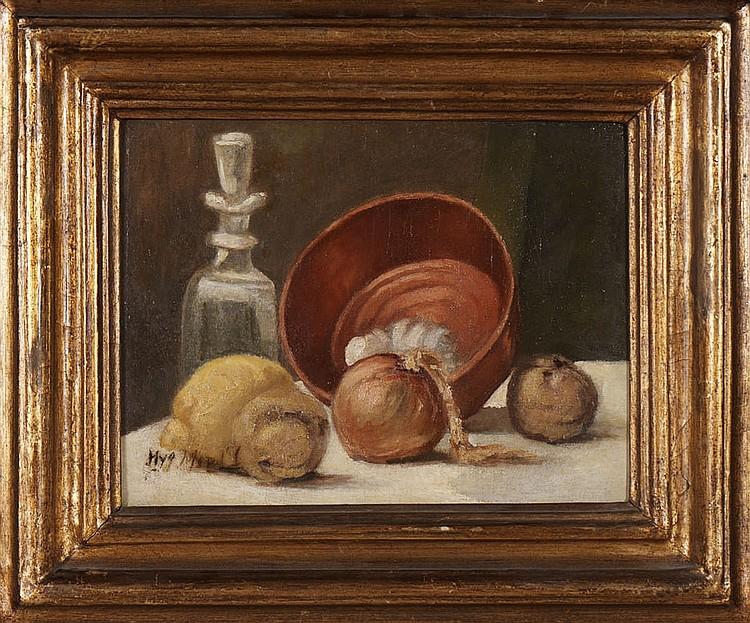 HIGINO MENDONÇA, Óleo sobre tela, 29 x 37 cm.