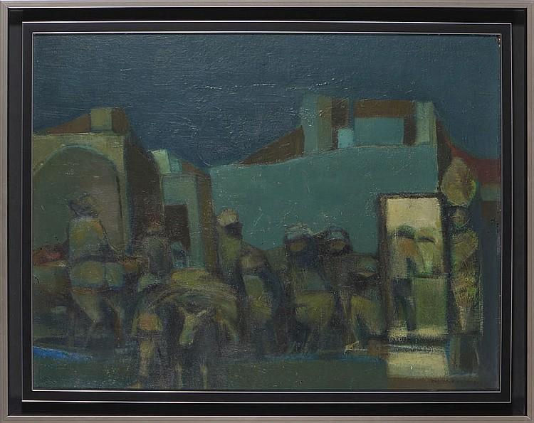 ROGÉRIO RIBEIRO, Óleo sobre madeira, 49,5 x 64 cm.