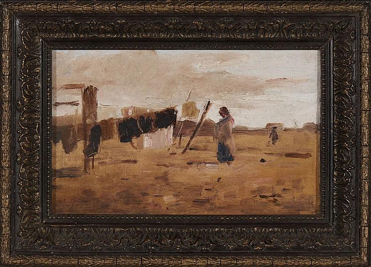Autor não identificado, Óleo sobre tela, 18 x 28cm