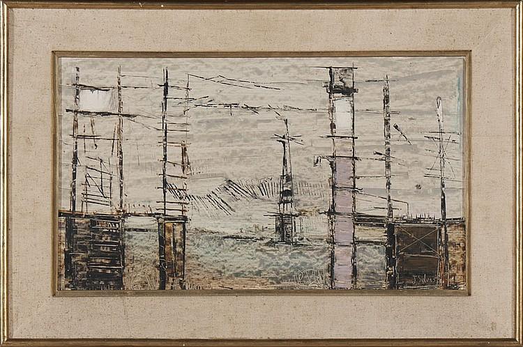 Autor não identificado, Óleo s/platex, 26 x 45 cm.