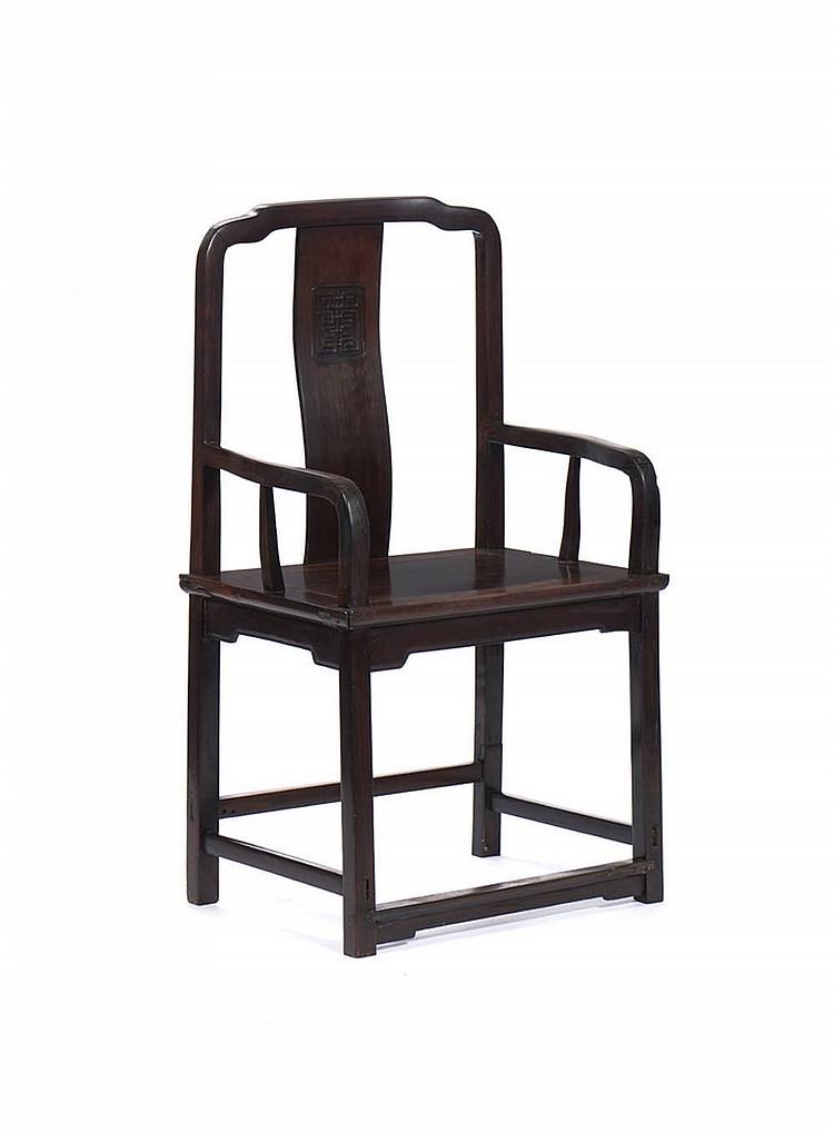 Cadeira chinesa séc. XIX/XX, em tamarindo