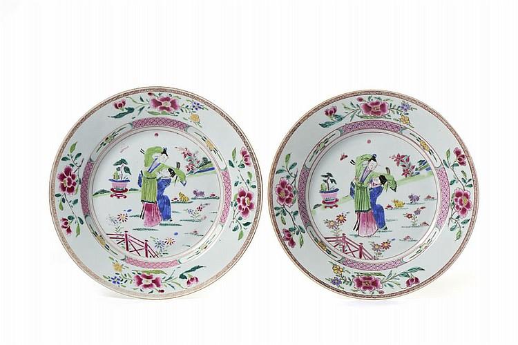 Conj. de 2 pratos em porcelana chinesa CI (2)