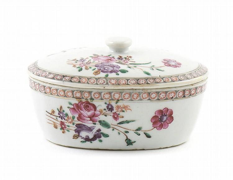 Manteigueira em porcelana chinesa da CI