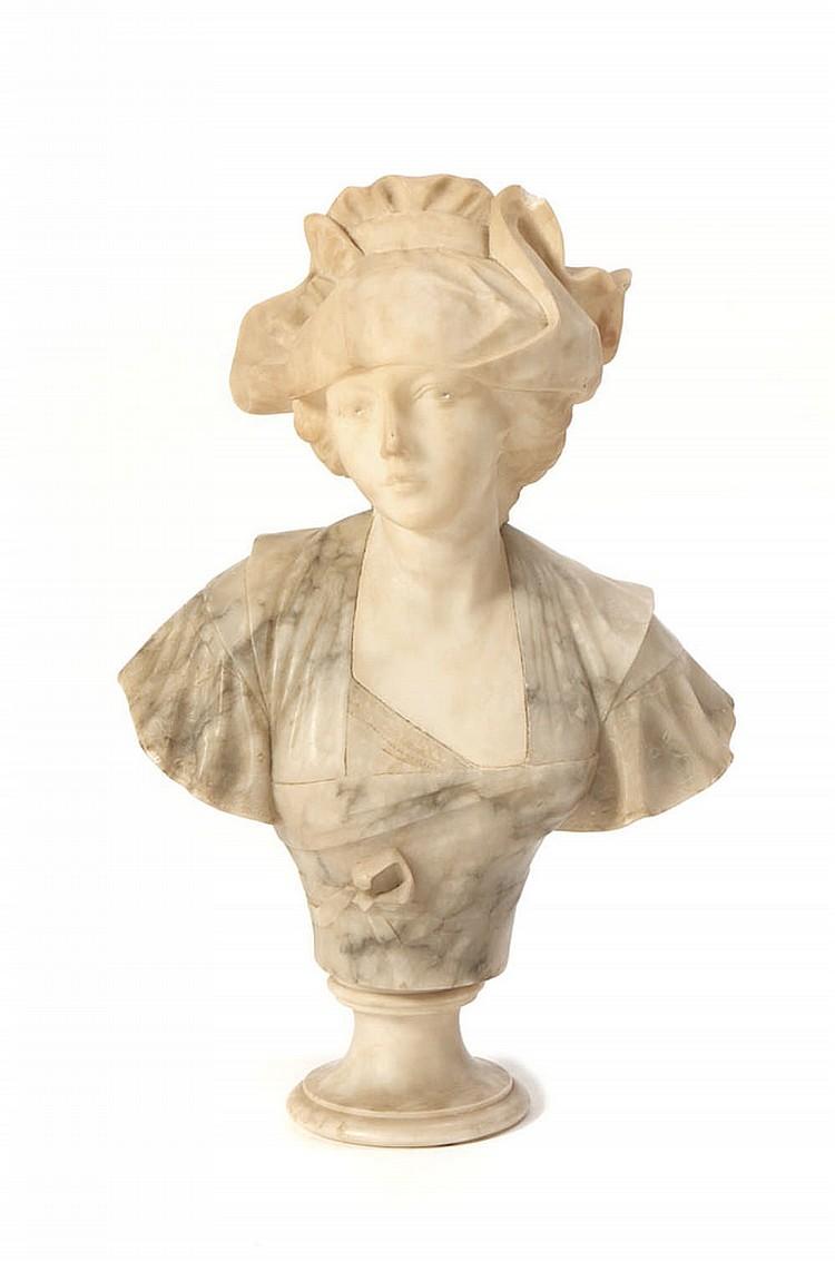 Busto de figura feminina, escultura