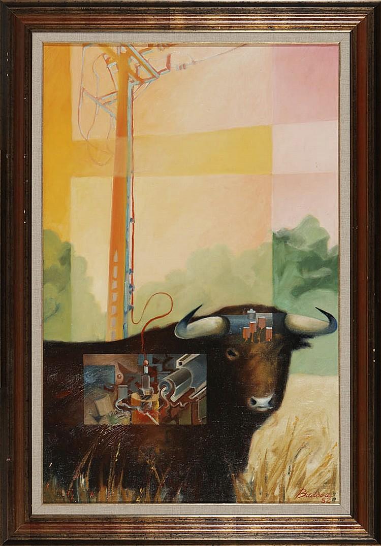 Luis BADOSA, Óleo sobre tela, 91 x 60 cm.