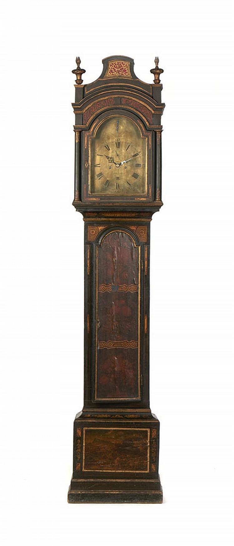 "Relógio de caixa alta inglês, ""John Scott London"""