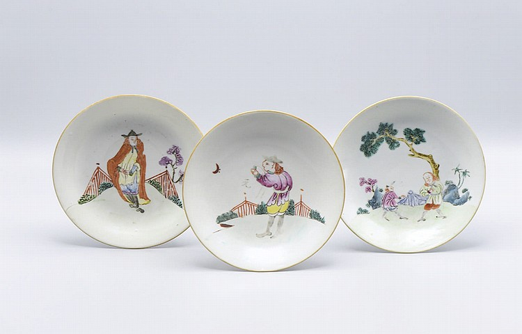 Conjunto de 6 pratos em porcelana chinesa (6)