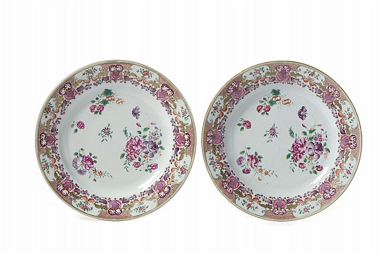 Par pratos em porcelana chinesa CI (2)
