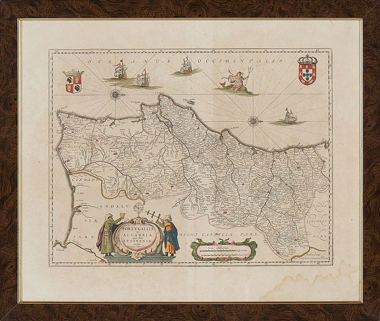 Mapa.Portugal «Portugallia..»Willem e Joan Blaeu.
