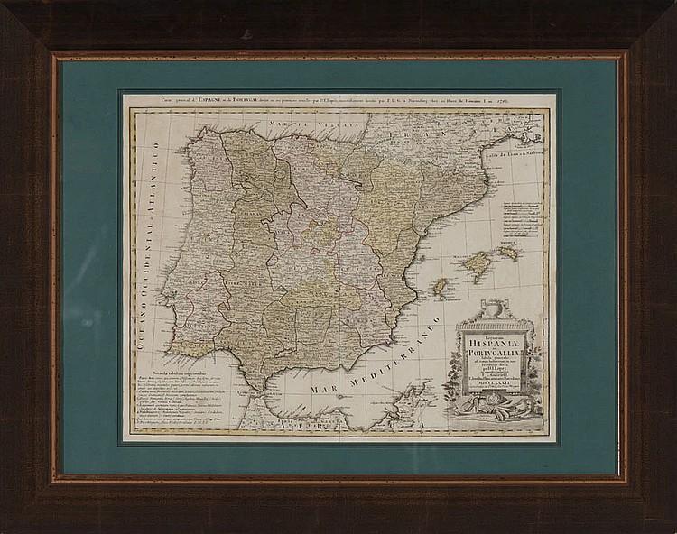 Mapa de Lopez,1782, «Regnorum, Hispanie et Portug»