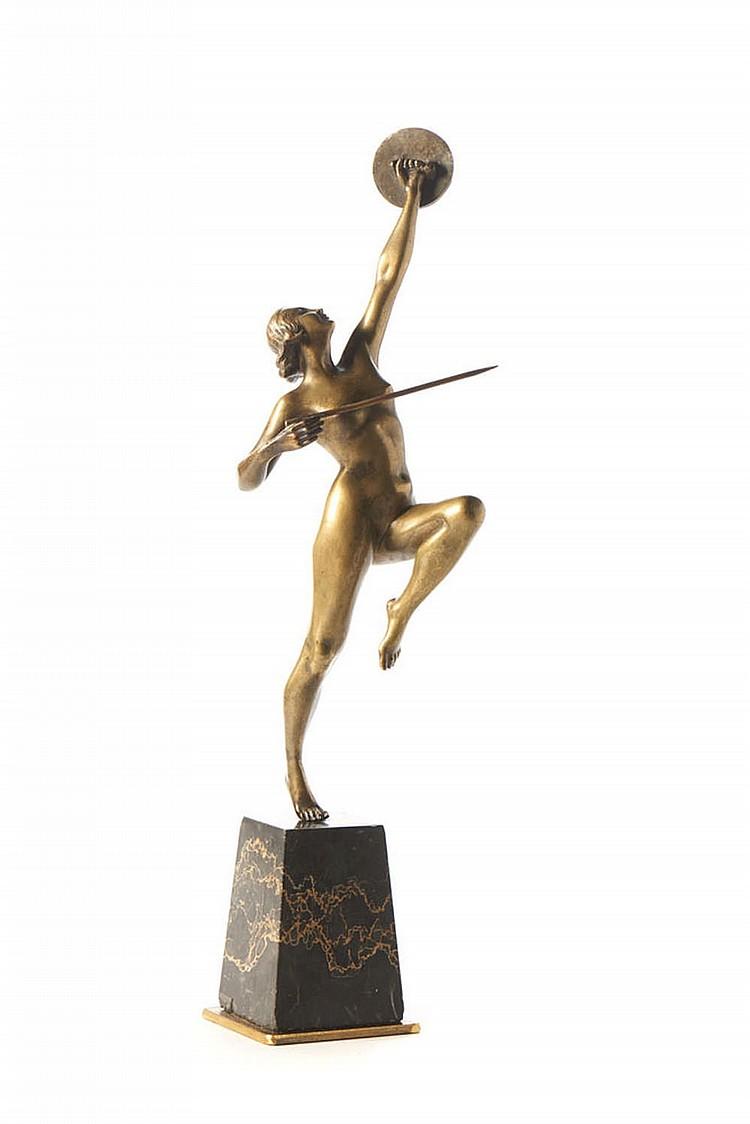 FUGERE, Amazona, escultura em bronze