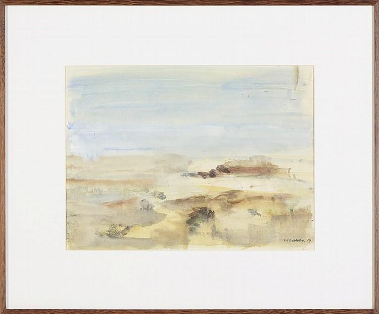 FERNANDO AZEVEDO Aguarela s/papel, 27 x 36,5 cm.