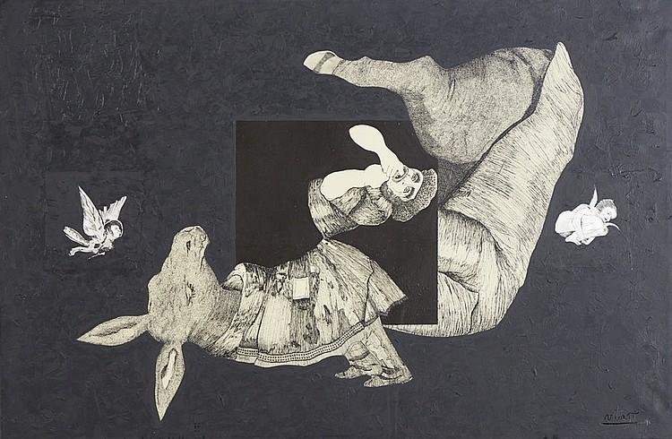 VICTOR PI Acrílico sobre papel, 65 x 100 cm.
