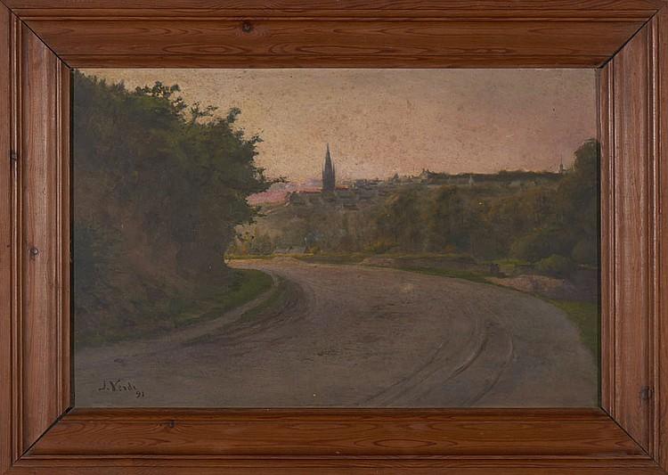 Autor não identificado, Óleo s/ madeira, 36x56 cm.
