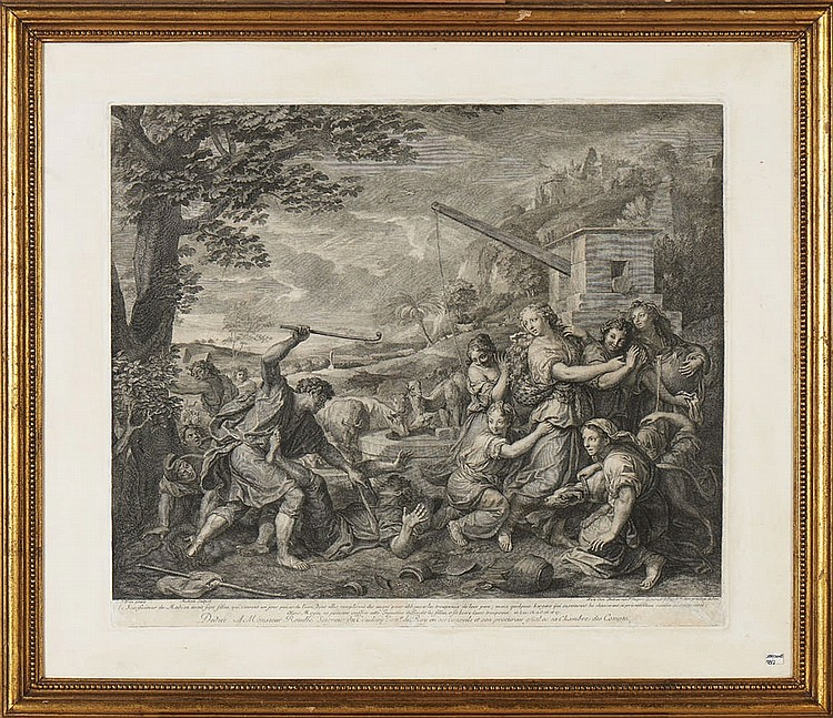 DREVET, Pierre - Imbert. & AUDRAN, par de gravuras