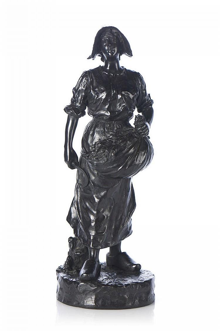 Ceifeira, escultura em bronze