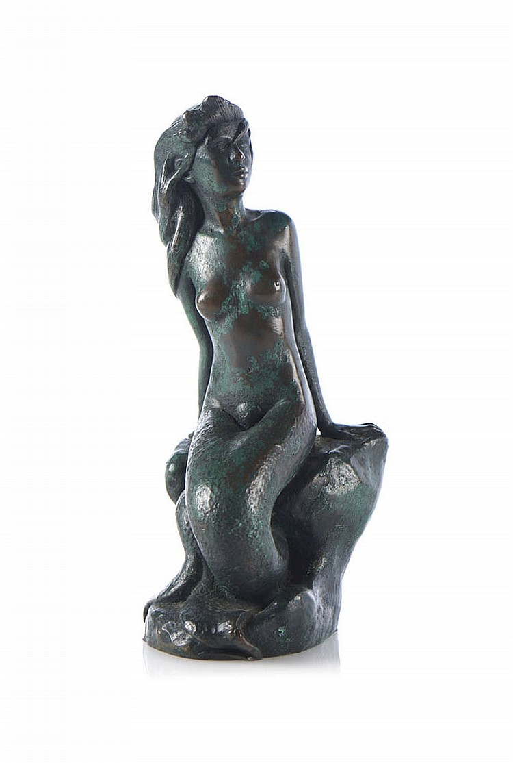 Sereia, escultura em bronze