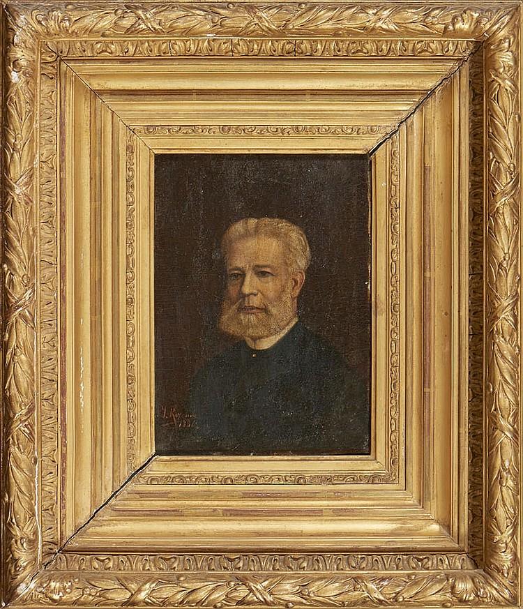 Retrato de Lúcio de Araújo, Óleo s/ cartão