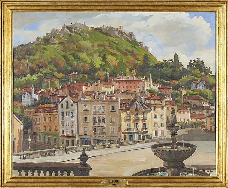 JOSÉ RIBEIRO, Óleo sobre tela, 80 x 100 cm.