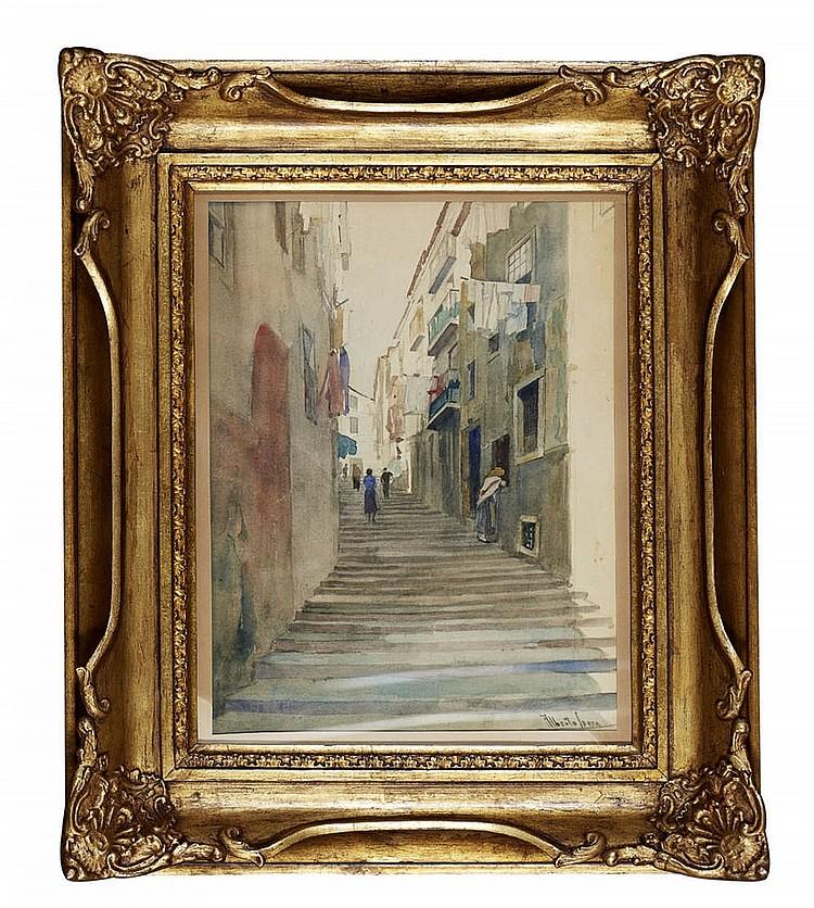 ALBERTO DE SOUSA, Aguarela sobre papel, 38 x 29 cm