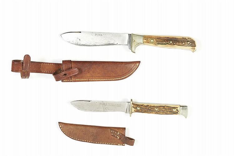 """Lote de 2 facas de mato alemãs """"Puma"""""""