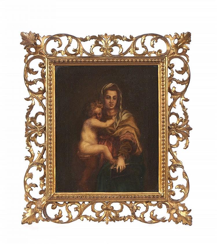 Nossa senhora, Óleo sobre tela, 27 x 21,5 cm.