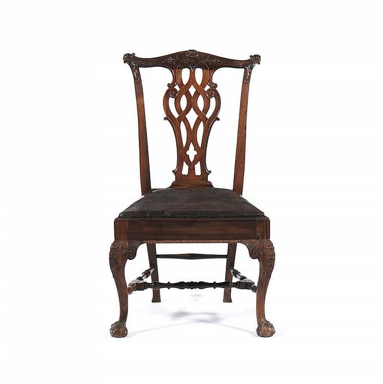 Cadeira D. João V, do séc. XVIII, em pau-santo