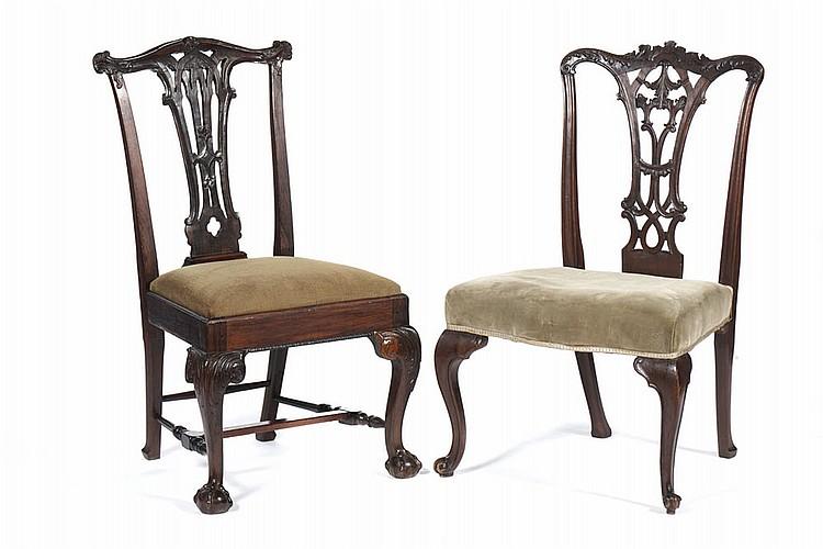 Lote de 2 cadeiras D. João V e Jorge III