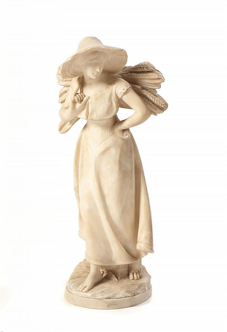 Mulher, Escultura em alabastro
