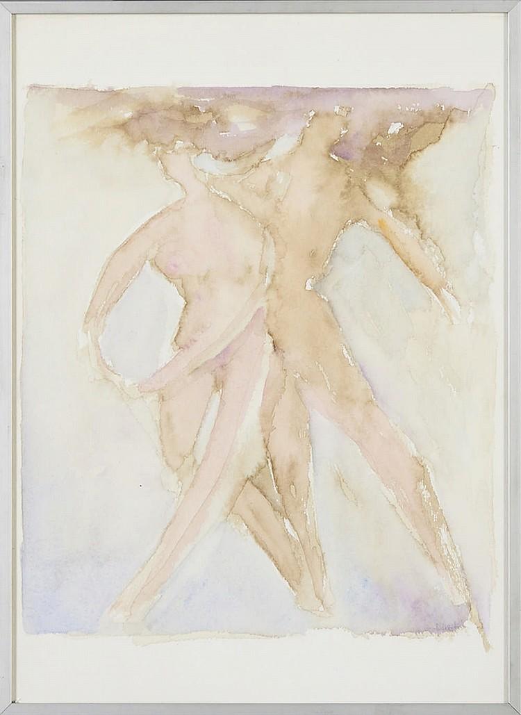 DIREITO, Aguarela sobre papel, 36,5 x 26,5 cm.