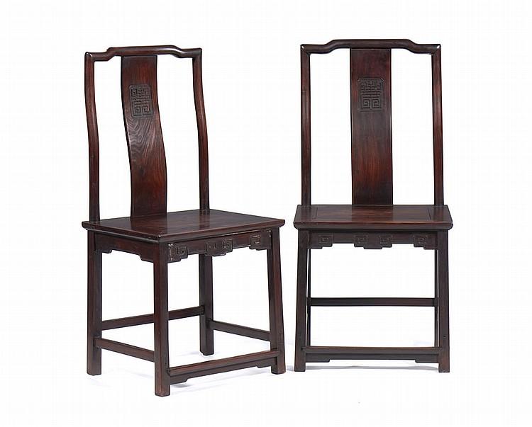 Conjunto de 4 cadeiras chinesas em tamarindo