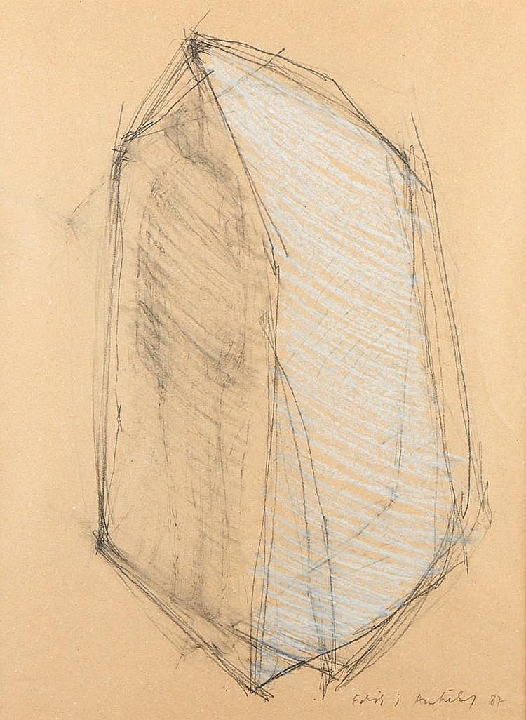 "Edith Ambuehl, ""Refúgio"", mista s/papel, 48x35,5cm"