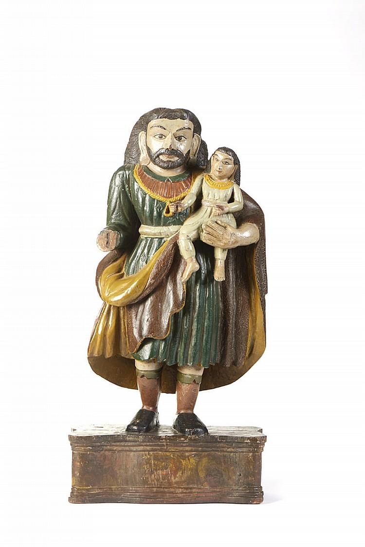 S. José c/Menino, Escultura madeira