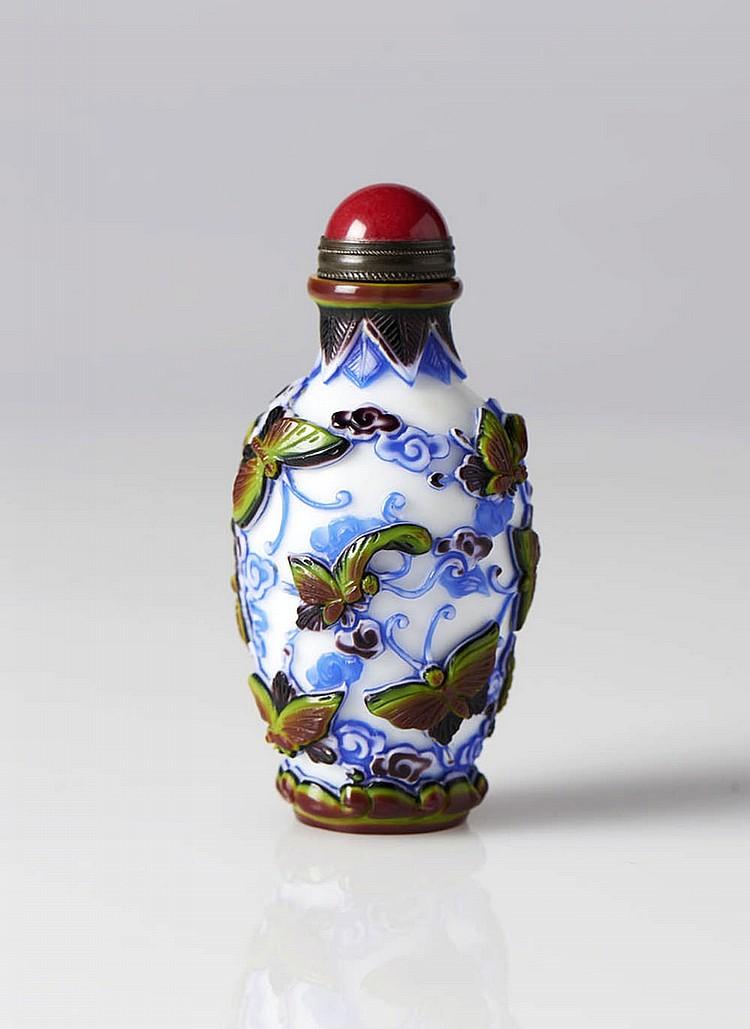 Snuff bottle em vidro