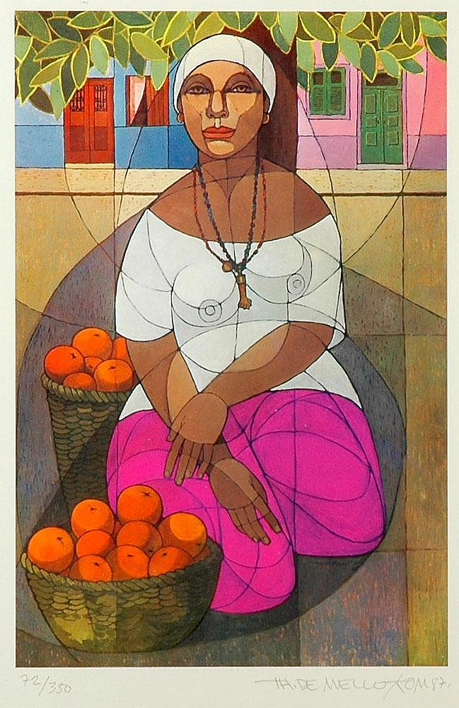 Tom, mulher com laranjas, serigrafia, ed.72/350