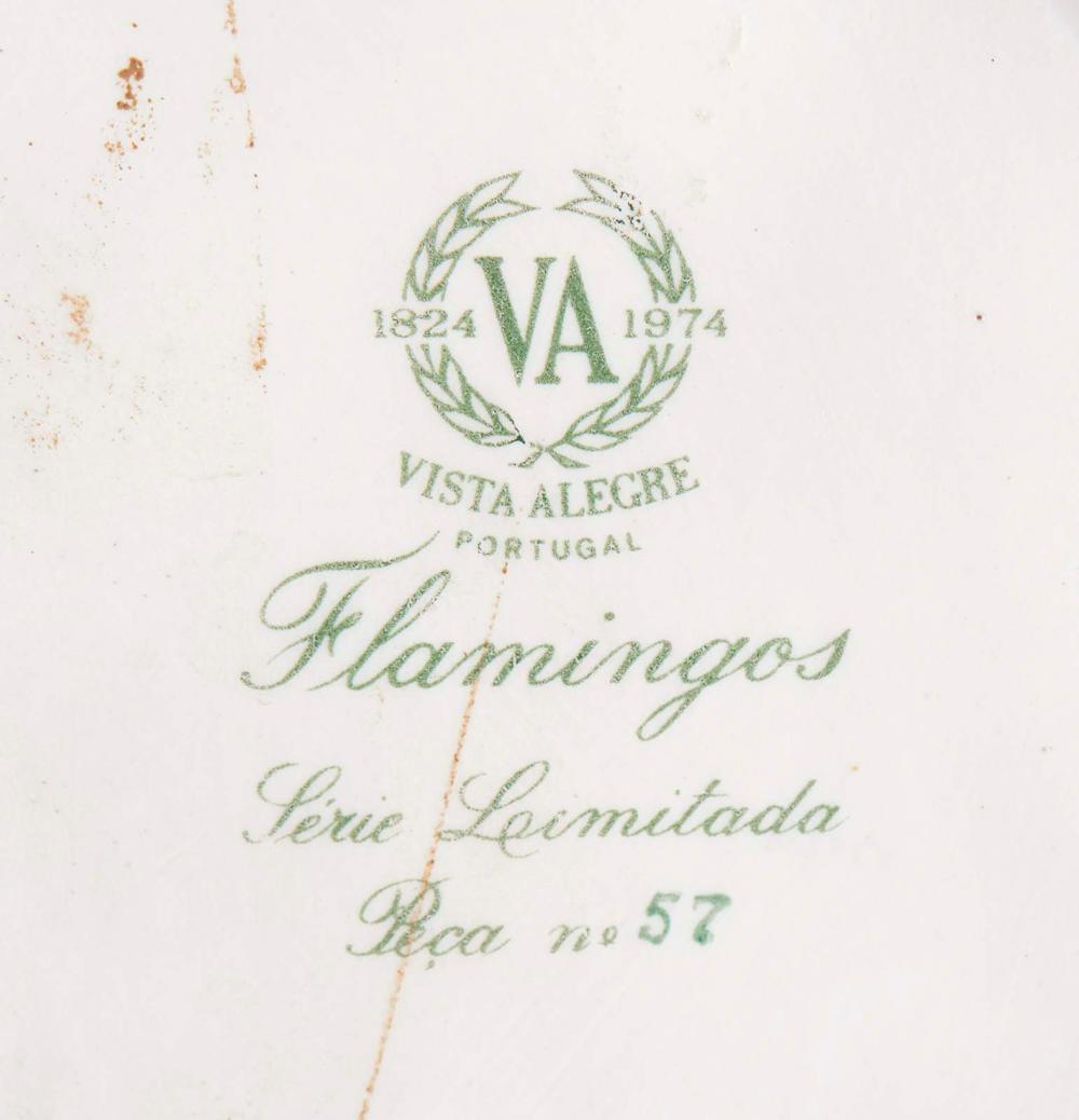 """""""Flamingos"""", casal de flamingos em porcelana VA"""