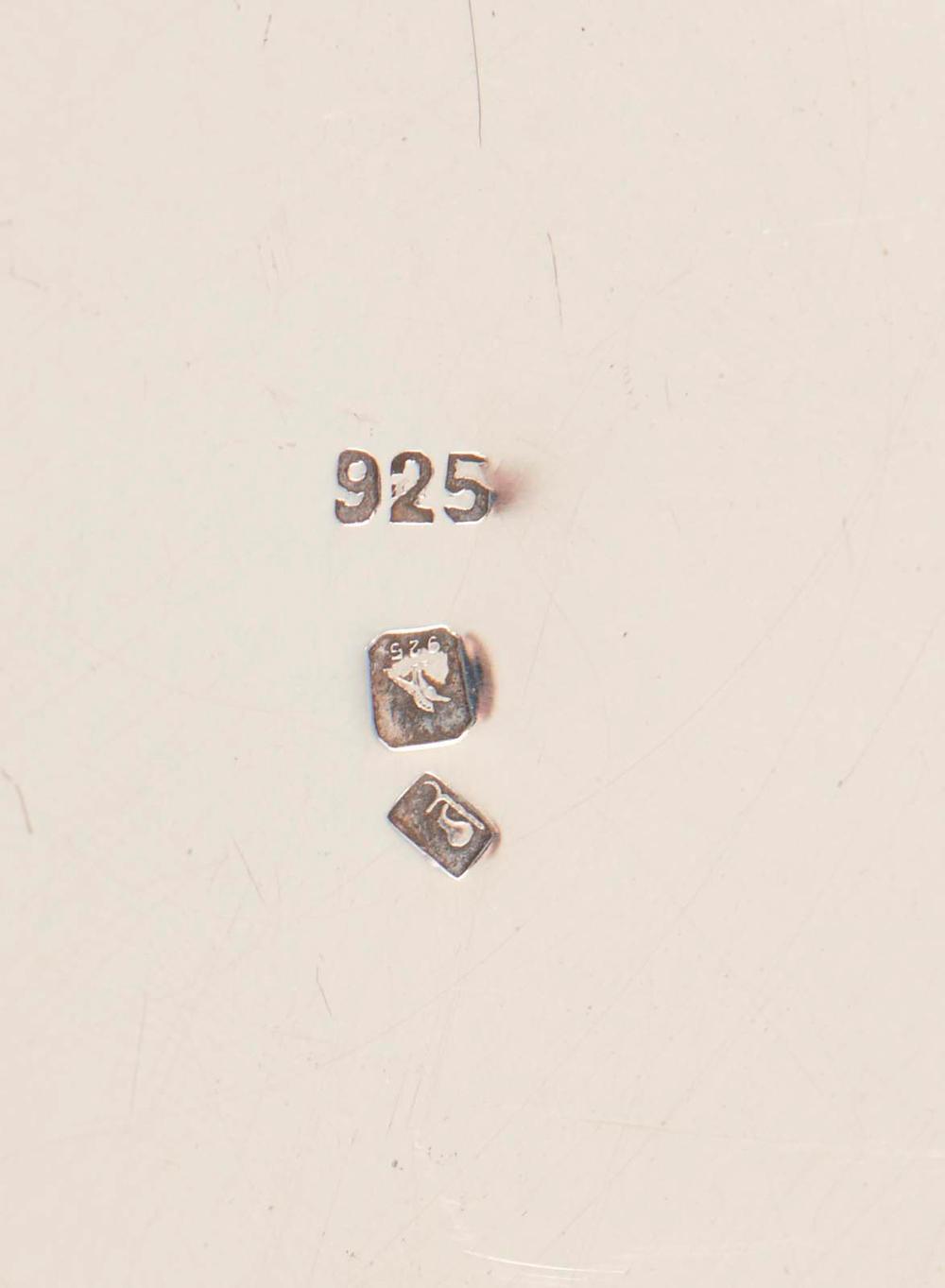Recipiente para chá em prata, 925%, P. 2784g
