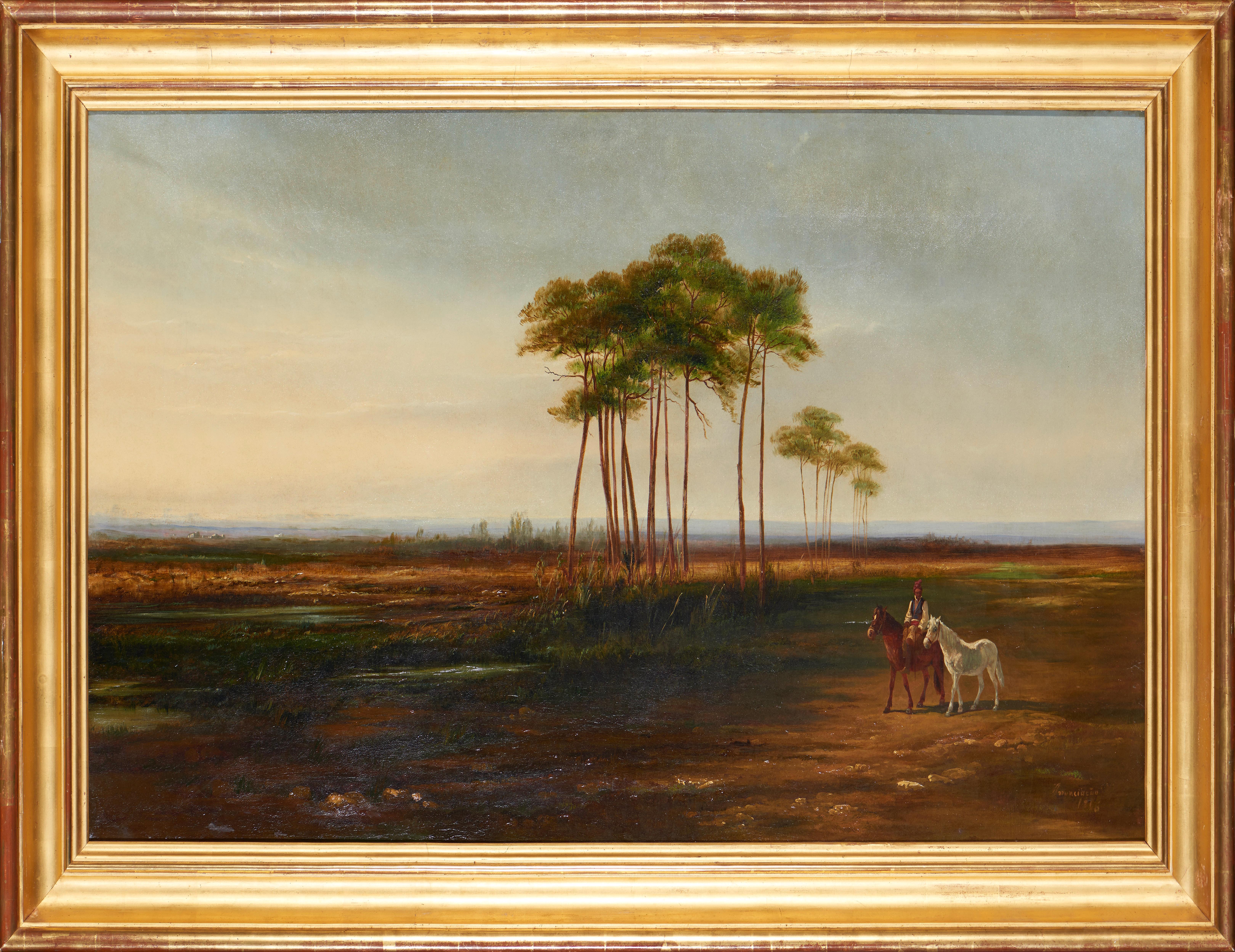 ANUNCIAÇÃO, Óleo sobre tela, 64 x 117,5 cm.