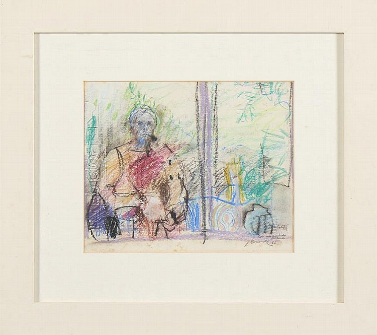JÚLIO RESENDE, Desenho s/papel, 21 x 25,5 cm.