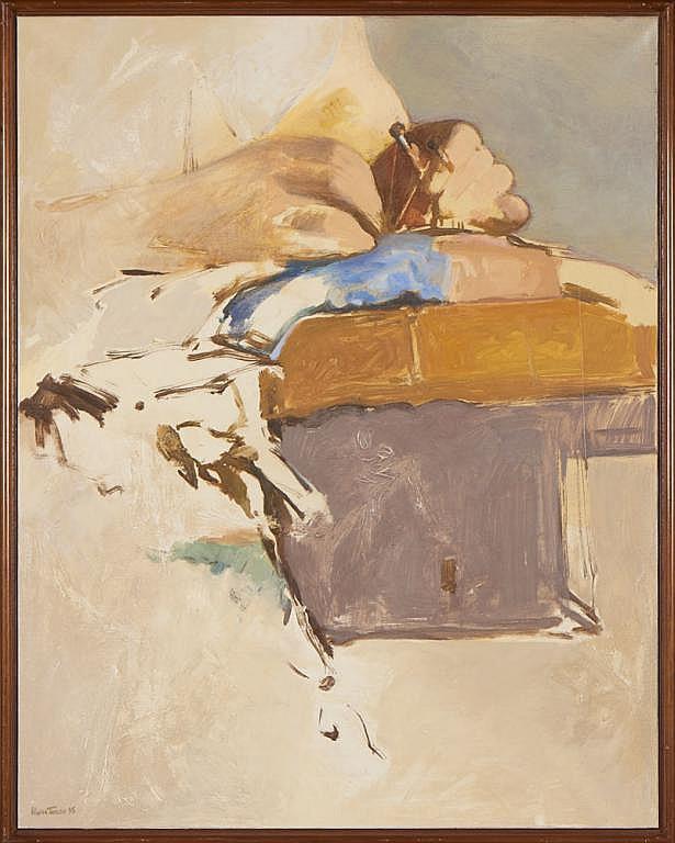 OLIVEIRA TAVARES, Óleo sobre tela, 116 x 92 cm.