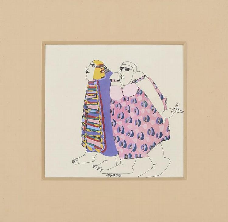 ARMANDA PASSOS, tinta sobre papel, 29 x 30,5 cm.