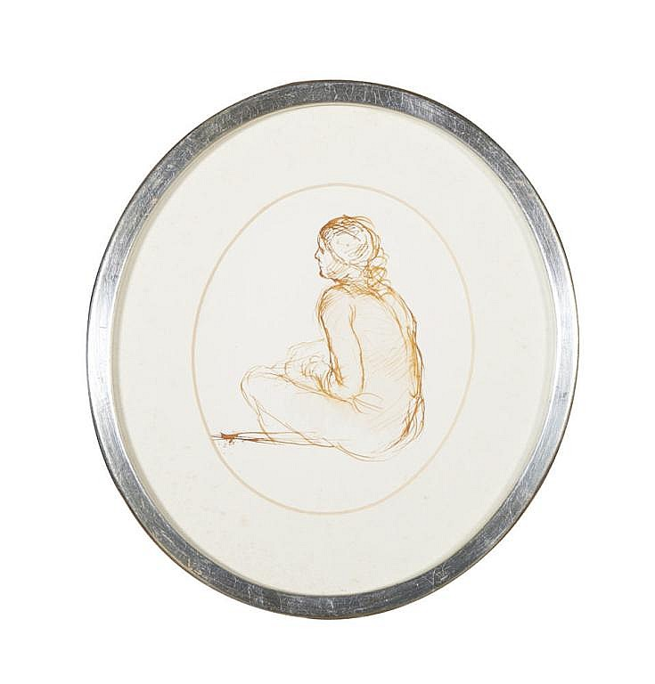 JORGE PINHEIRO, tinta sobre papel, 22 x 19 cm.