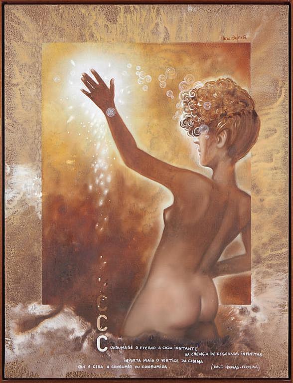 VIEIRA BAPTISTA, óleo s/tela, 116 x 89 cm.
