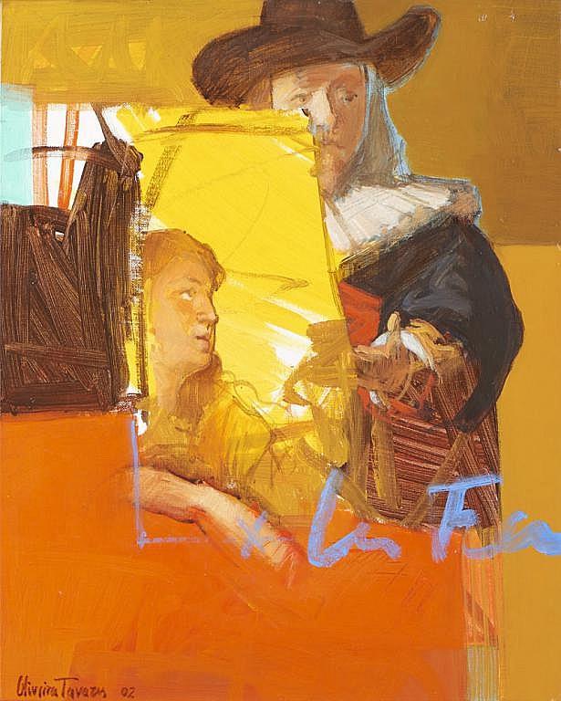 OLIVEIRA TAVARES, Óleo sobre tela, 50 x 40 cm.